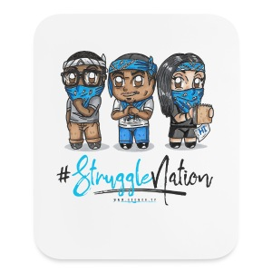 StruggleNation Trio (Design 2) Mouse pad Vertical - Mouse pad Vertical
