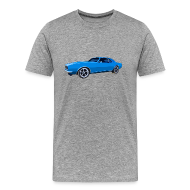 T-Shirts ~ Men's Premium T-Shirt ~ Blue Camaro SS Mens Reg & Big