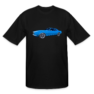 T-Shirts ~ Men's Tall T-Shirt ~ Blue Camaro SS Mens Tall Sizes