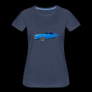 T-Shirts ~ Women's Premium T-Shirt ~ Blue Camaro SS Lady Tee