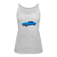 Tanks ~ Women's Premium Tank Top ~ Blue Camaro SS Women Tank
