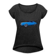 T-Shirts ~ Women´s Rolled Sleeve Boxy T-Shirt ~ Blue Camaro SS Women Rolled Boxy T