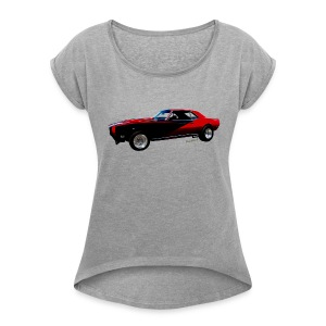 Camaro SS Lady Roll Sleeve Boxy T - Women's Roll Cuff T-Shirt