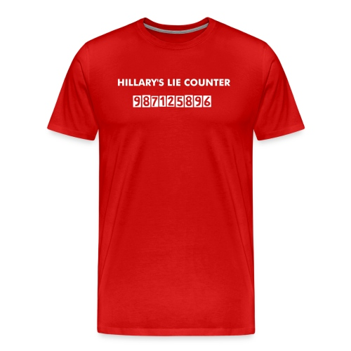 HILLARY'S LIE COUNTER - Men's Premium T-Shirt