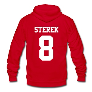STEREK 8 - Zip-up (S Logo, NBL) - Unisex Fleece Zip Hoodie by American Apparel