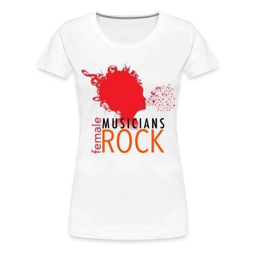 FMR White01 - Women's Premium T-Shirt