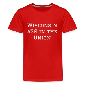 Wisconsin #1 in our Hearts - Kids' Premium T-Shirt