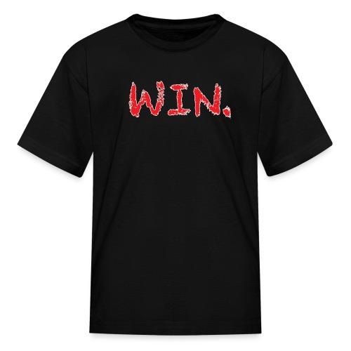 Kids Black/Red Win Period T-Shirt - Kids' T-Shirt