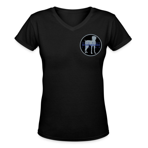 Womens V-Neck - Small Logo - Women's V-Neck T-Shirt