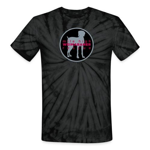 Unisex Tie Dye Shirt - Hot Pink Logo - Unisex Tie Dye T-Shirt