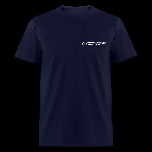 CURSIVE NINJA - WHT ON NVY - Men's T-Shirt