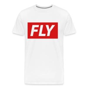 Stamped White Fly Money Gang Tee - Men's Premium T-Shirt