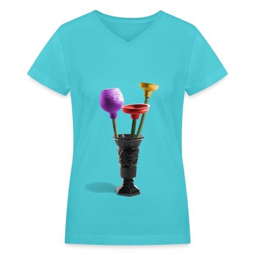 Stinky flowers - Women's V-Neck T-Shirt