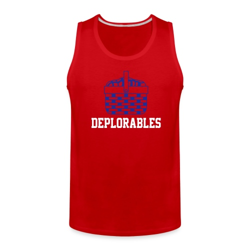 Basket of Deplorable Mens Tank Top Red - Men's Premium Tank
