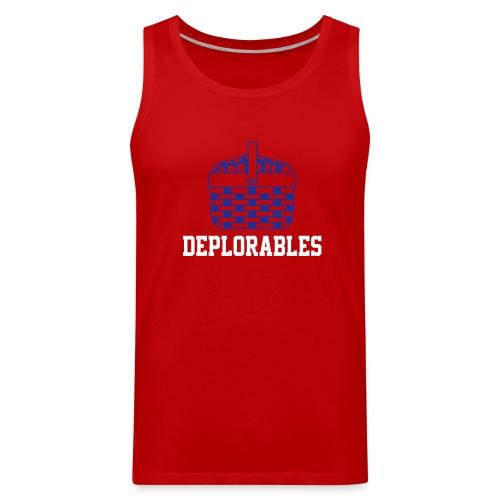 Basket of Deplorable Mens Tank Top Red - Men's Premium Tank