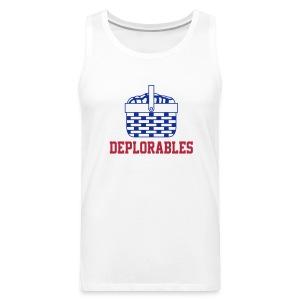 Basket of Deplorable Mens Tank Top White - Men's Premium Tank