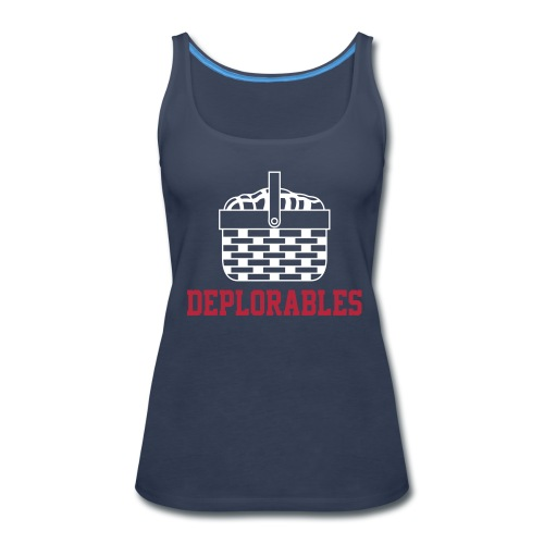 Basket of Deplorable Ladies Tank Top Blue - Women's Premium Tank Top