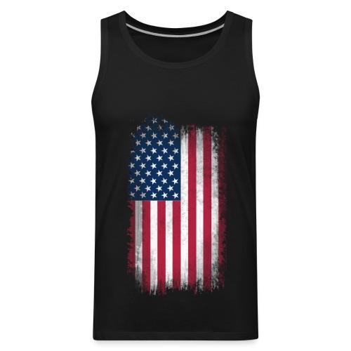 America Tank Top (Black) - Men's Premium Tank