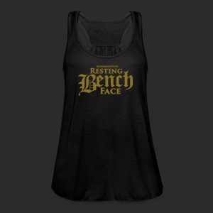 RESTING BENCH FACE - METAL GOLD - Women's Flowy Tank Top by Bella