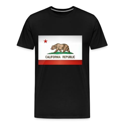 California Flag Black T-Shirt - Men's Premium T-Shirt