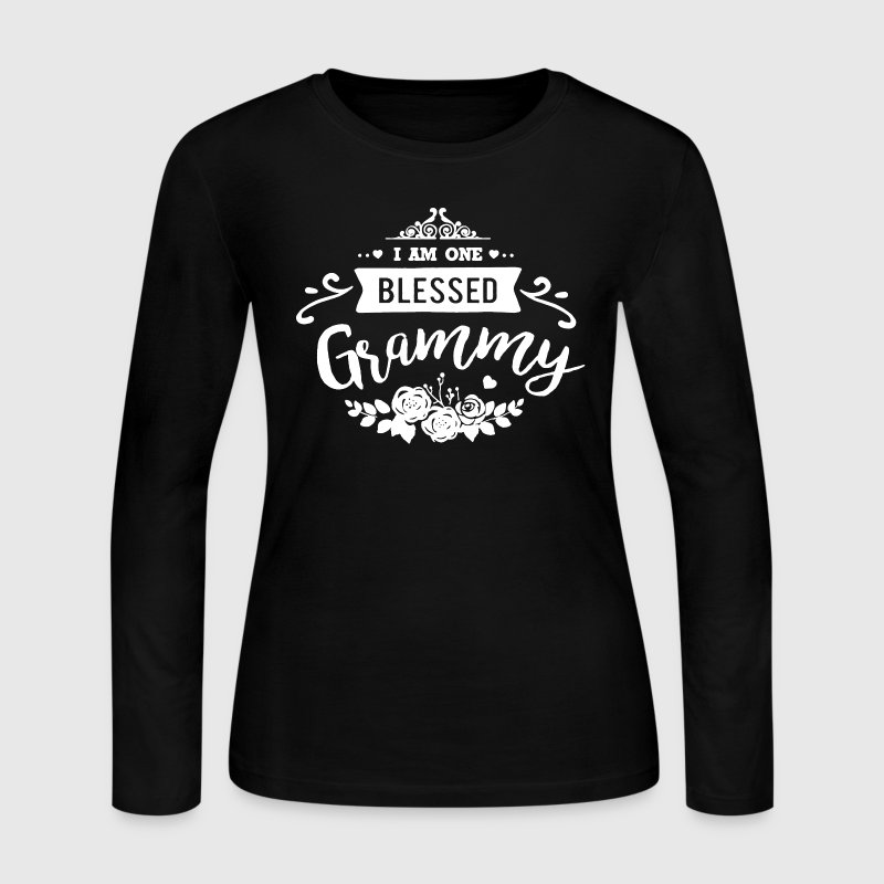One Blessed Grammy Shirt - Women's Long Sleeve Jersey T-Shirt