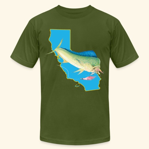 California Dorado Fishing - Men's Fine Jersey T-Shirt