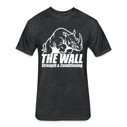 WALLSC Mens Shirt - Fitted Cotton/Poly T-Shirt by Next Level