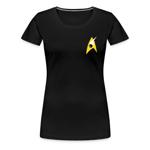 Boldly Bowl, White & Gold - Women's Premium T-Shirt