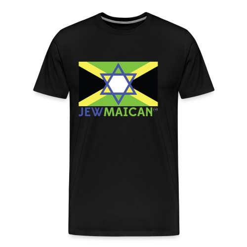 Men'Black Jewmaican T-Shirt - Men's Premium T-Shirt
