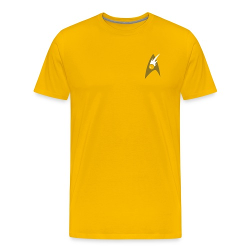 Boldly Bowl, Gold & Metallic - Men's Premium T-Shirt