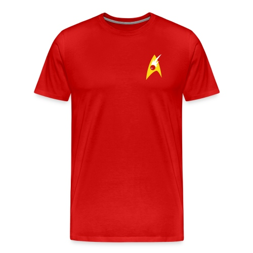 Boldly Bowl, Red & Gold - Men's Premium T-Shirt