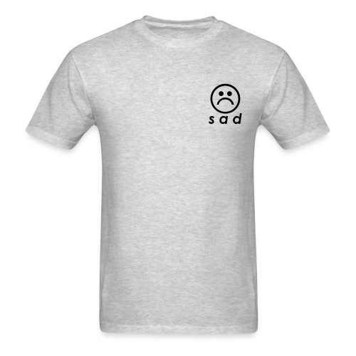 Grey Standard Sad - Men's T-Shirt