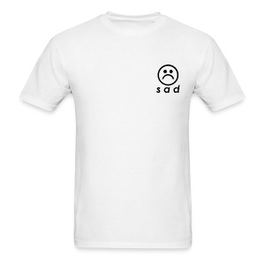 White Standard Sad - Men's T-Shirt