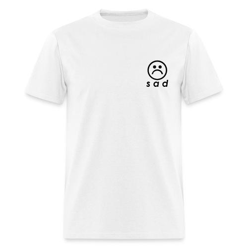 White Standard Sad - Men's T-Shirt