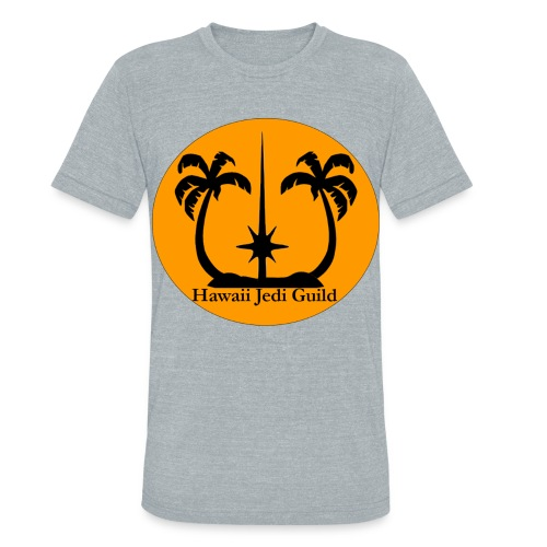 Unisex Tri-Blend T-Shirt - yoda,the force,palm trees,jedi realist,jedi,hawaiian islands,hawaiian,hawaii jedi guild,hawaii jedi,hawaii