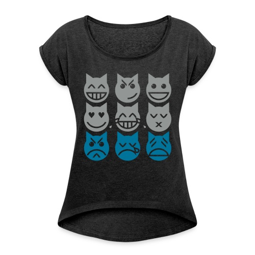 BlueCat! - Women's Roll Cuff T-Shirt