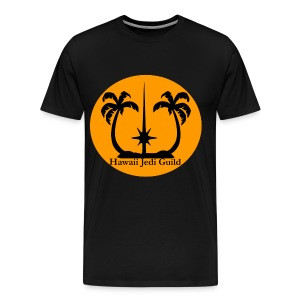 Men's Premium T-Shirt - yoda,the force,palm trees,jedi realist,jedi,hawaiian islands,hawaiian,hawaii jedi guild,hawaii jedi,hawaii