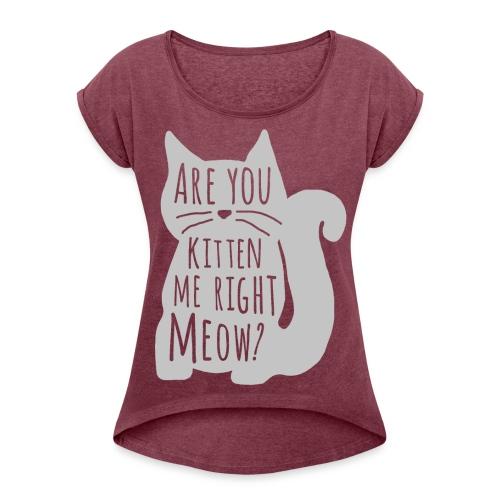 BlueCat! - Women's Roll Cuff T-Shirt
