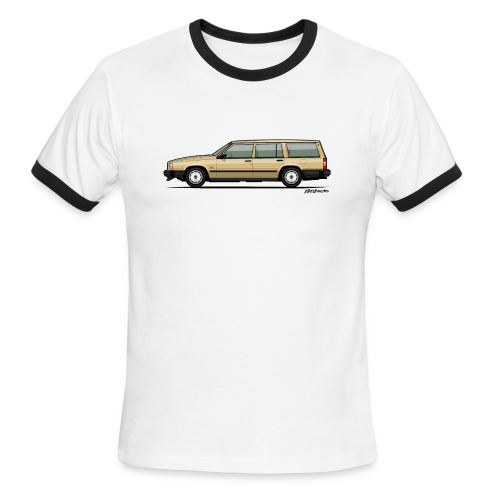 Volvo 740 745 Wagon Gold - Men's Ringer T-Shirt