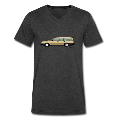 Volvo 740 745 Wagon Gold - Men's V-Neck T-Shirt by Canvas