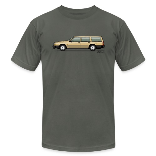 Volvo 740 745 Wagon Gold - Men's Fine Jersey T-Shirt