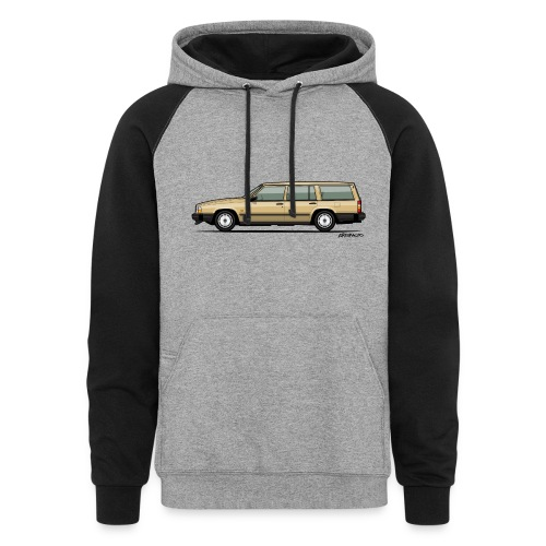 Volvo 740 745 Wagon Gold - Colorblock Hoodie