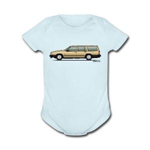 Volvo 740 745 Wagon Gold - Short Sleeve Baby Bodysuit