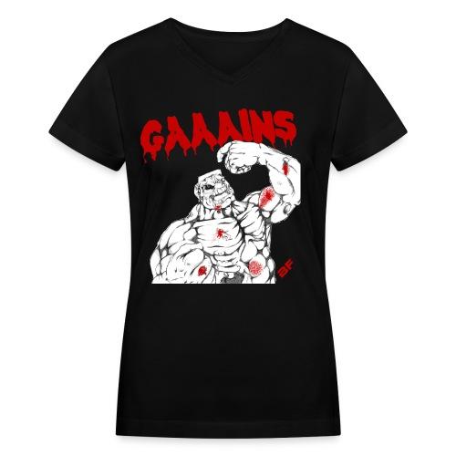 Gaaains women V - Women's V-Neck T-Shirt
