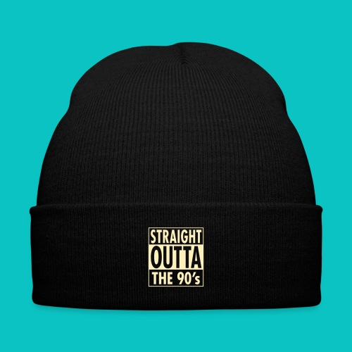 Straight Outta The 90'S - Knit Cap with Cuff Print