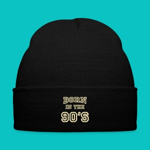 Born In The 90'S - Knit Cap with Cuff Print