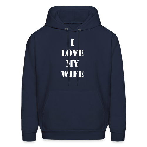Men's I Love My Wife Light Print - Men's Hoodie