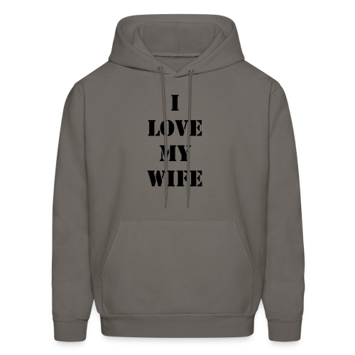 Men's I Love My Wife Dark Print - Men's Hoodie