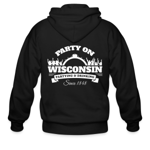Party On Wisconsin - ZIpped Hoodie - Men's Zip Hoodie