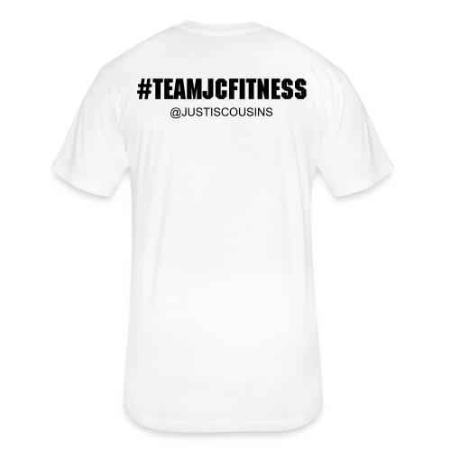 Black #TeamJCFitness Tee (Men's) - Fitted Cotton/Poly T-Shirt by Next Level